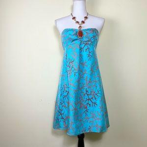 Lilly Pulitzer 2 Coral Brayden Silk Halter Dress